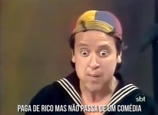Bruno JVP grava rap do Chaves - imagem reprodução