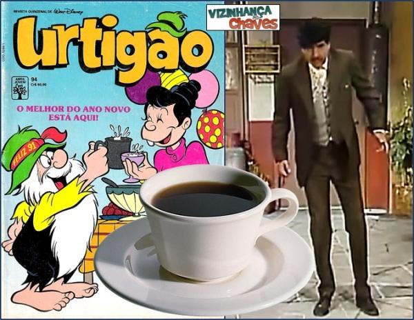 Piada do café envenenado rodou o mundo com diversas adaptações, saiba outra - Chaves, Professor Girafales, Dona Florinda, Dona Clotilde, Urtigão - imagem montagem sobre reproduções