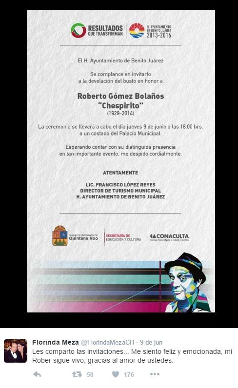 Florinda Meza inaugura busto de Chespirito - 04