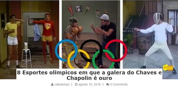 8 Esportes olímpicos em que a galera do Chaves e Chapolin é ouro - reprodução