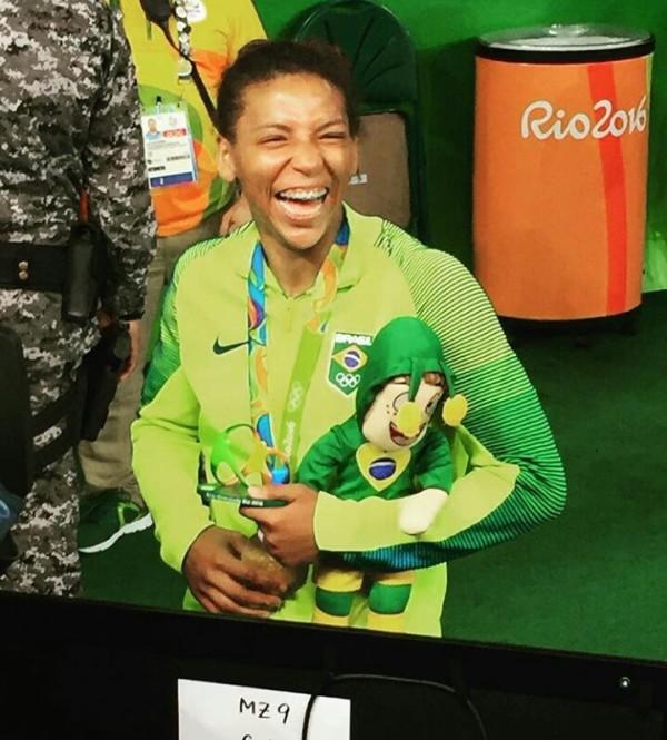 Chapolins brasileiros - Rio 2016 - Medalhito - Rafaela Silva, ouro no judô