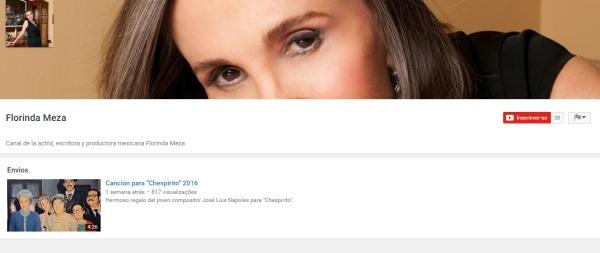 Florinda Meza cria canal no Youtube e primeiro vídeo é uma música - imagem reprodução